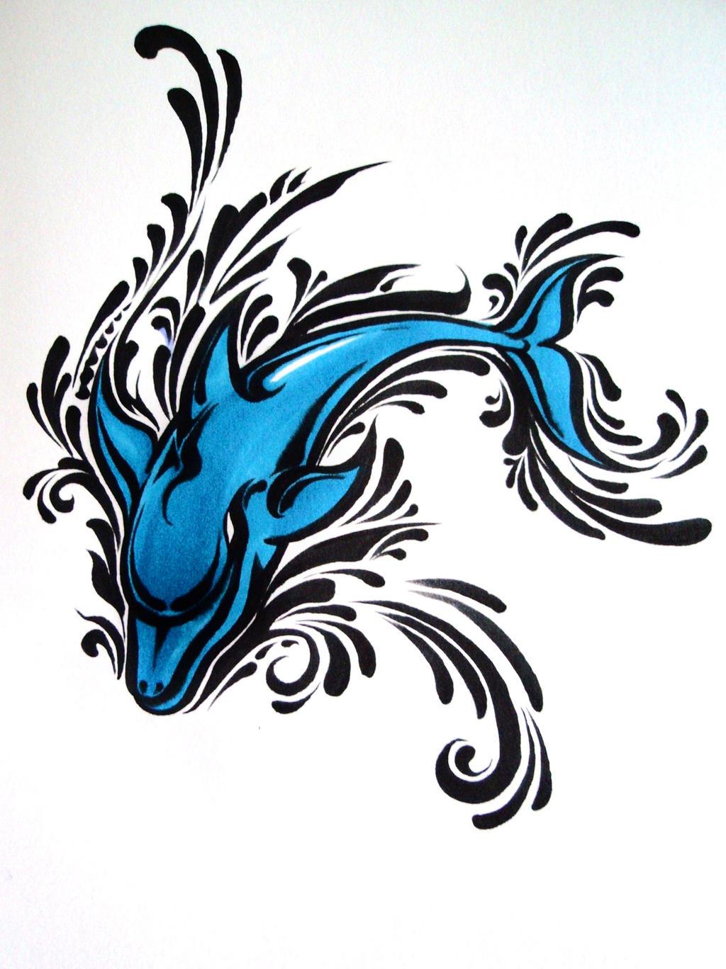 Fun with a Dolphin by Elliesmeria