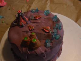 Mini Zerg Cake by Elliesmeria