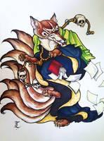 School Death Kitsune by Elliesmeria
