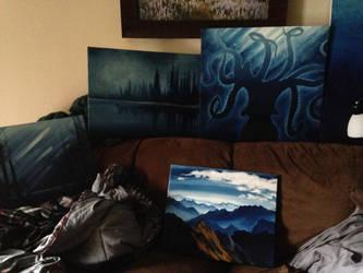 Blue Paintings by Elliesmeria