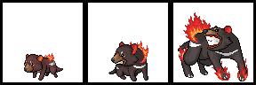 Tasmanian Devil Pokemon Sprite by shadixART
