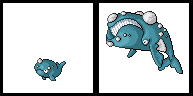 Pokemon Fake Sprite Whale by shadixART