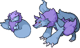Fakemon Ice Wolf by shadixART