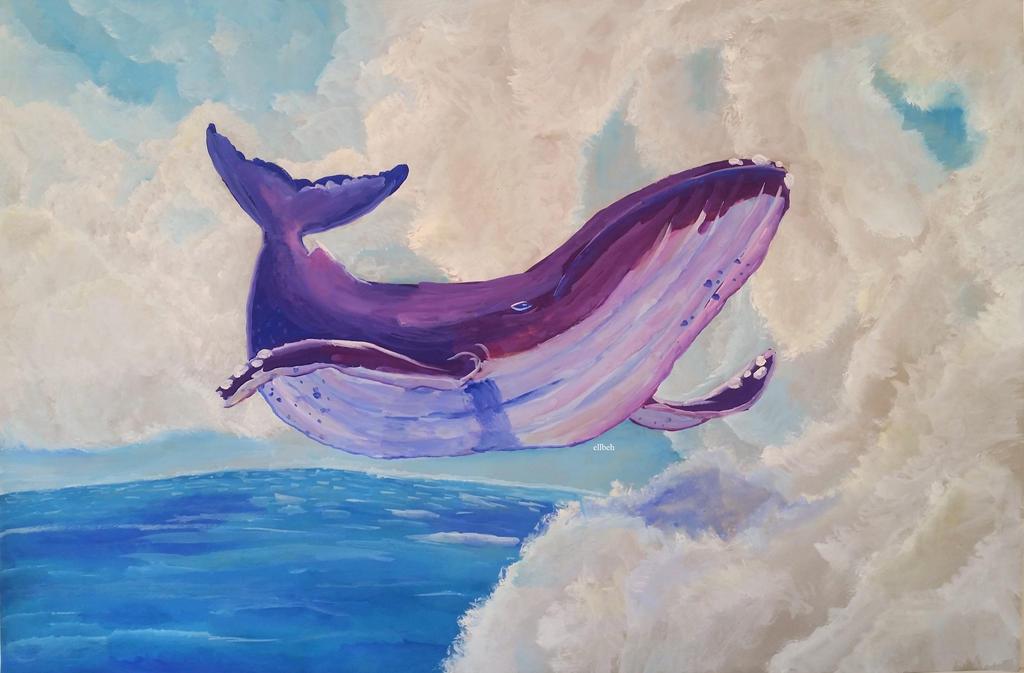 Sky Whale by ellbeh