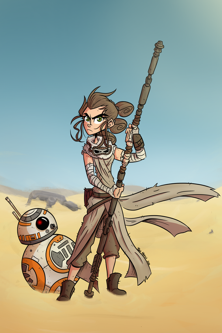 Rey and BB-8 by totalnonsense89