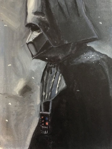 Darth Vader Oil Painting By Lameograph