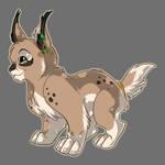 Lineart Set Commish: Lynx Cub