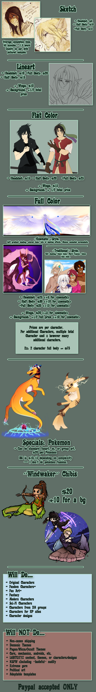 Commission Prices - 2018 by Tigryph