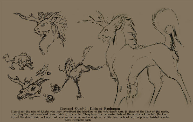 Concept 1 : Kirin of Pendryg by Tigryph