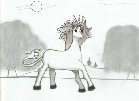 Amalthea: The Last Unicorn uncolored 1 practice