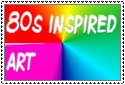 80s inspired art stamp by Roses-and-Feathers