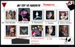 Top 10 vampires meme filled by me