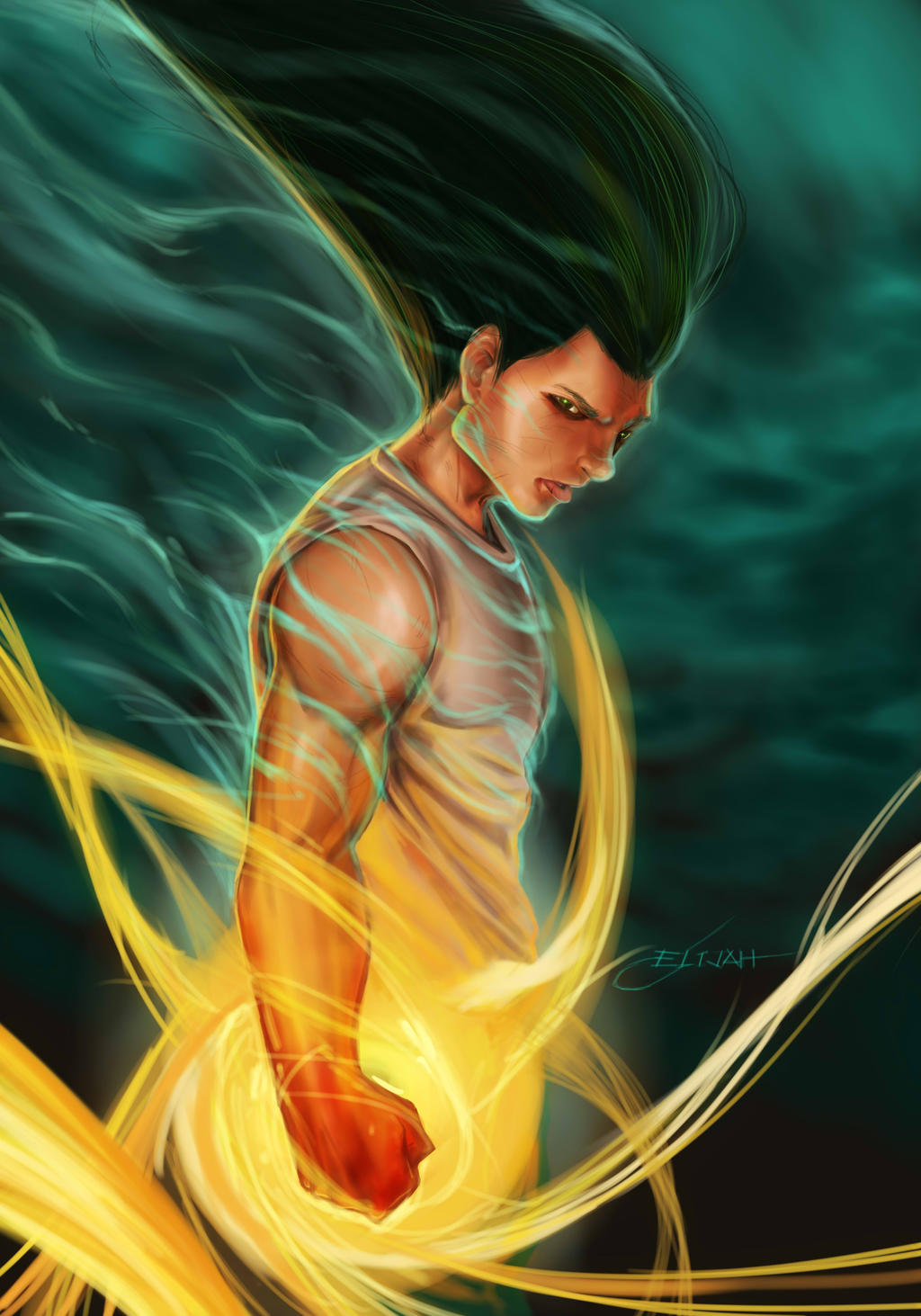 Top personagens mais fortes de Hunter X Hunter Gon_freecs__hunter_x_hunter_fan_art__by_elijahtan-d7eelwg