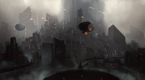 Futuristic city - Study Digitalpainting