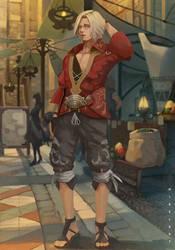 Abram Final Fantasy XIV by NibelArt