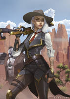 Ashe Overwatch by NibelArt