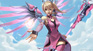 Pink Mercy [Commission] by NibelArt