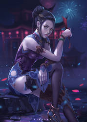 Widowmaker Black Lily by NibelArt