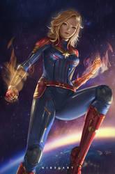 Captain Marvel by NibelArt
