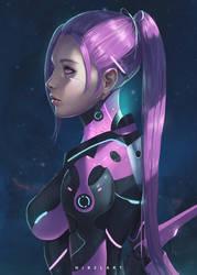 Cyborg 2 Pink [ OC ] by NibelArt