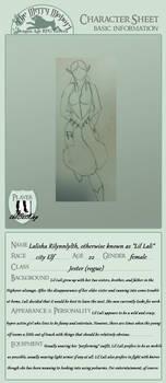 Lil Lali Character Sheet