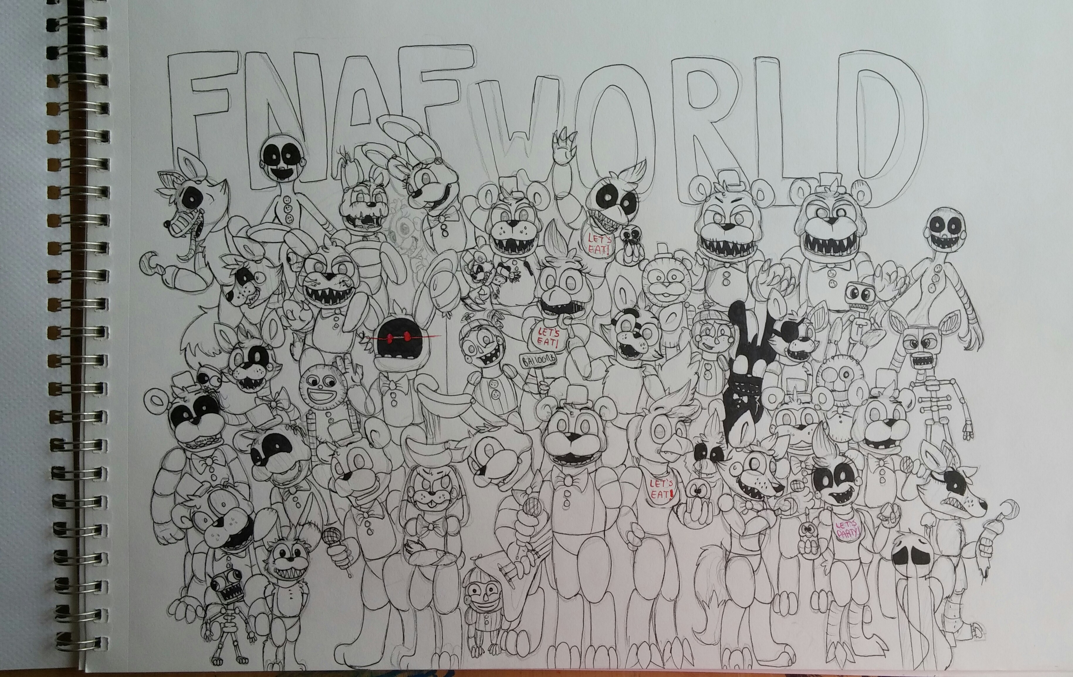 fnaf world coloring pages - photo#18