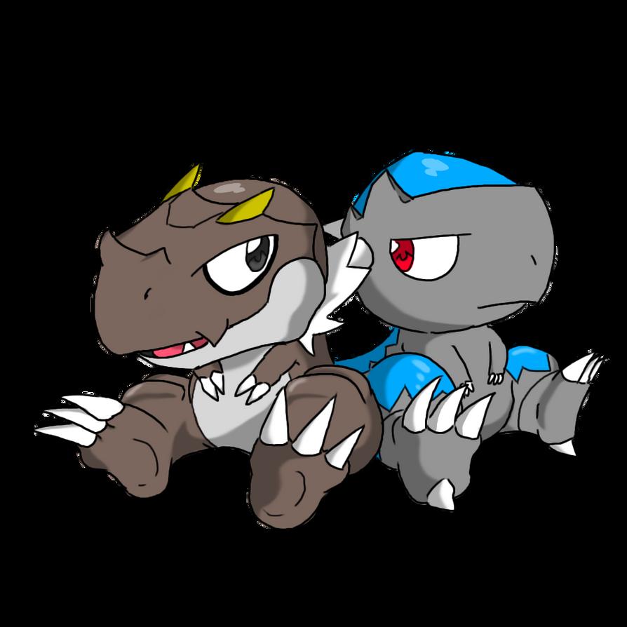 Pokemon- Tyrunt and Cranidos by AlphaMoonlightPokemon Cranidos Evolution