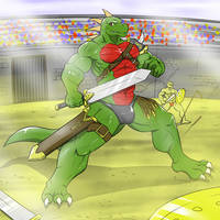 Rumble Arena [commission] by AlphaMoonlight