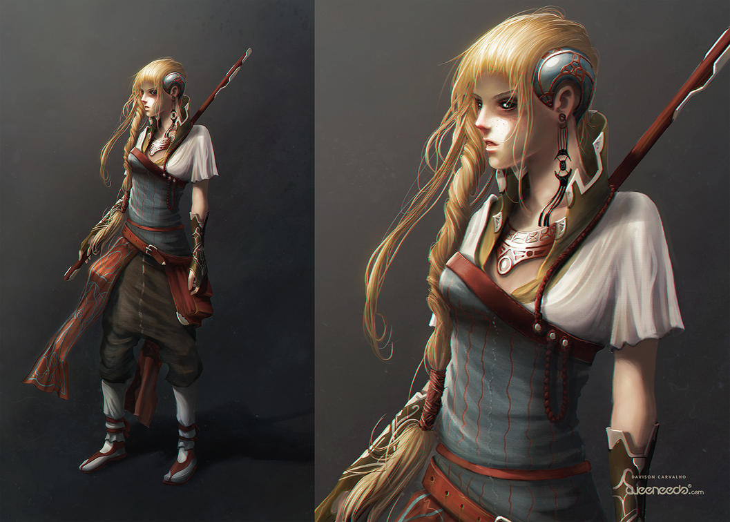 Character concept technique test by dchan