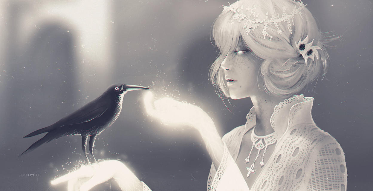 Mr Raven and Miss Death (from Neil Gaiman) by dchan
