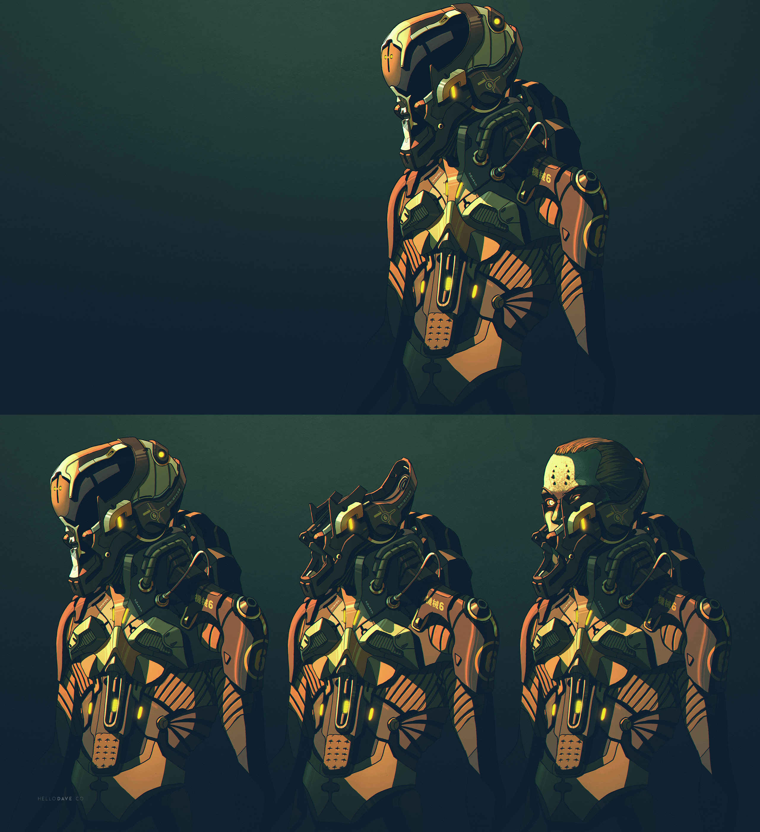 Sci-fi suit-armor Anime style by dchan on DeviantArt