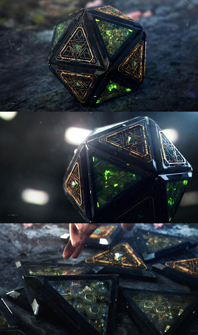 3D steampunk magic thingy by dchan