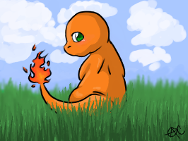 CHARMANDER-Pokemon by IceCatDemon