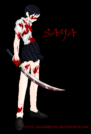 Saya-Blood+ by IceCatDemon