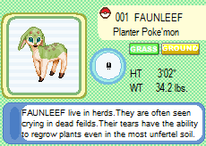 Fakemon: Faunleef by IceCatDemon