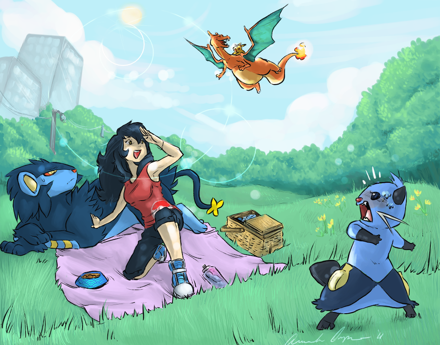 Spring Outing by IceCatDemon