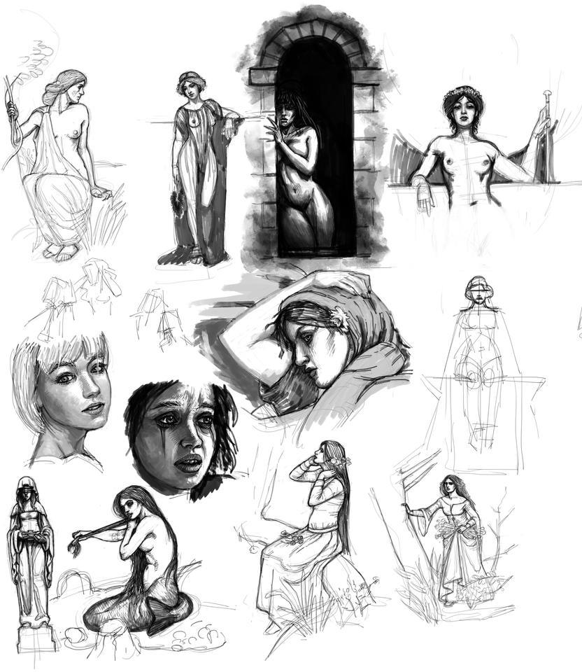 Studies - Girls by Snoardur