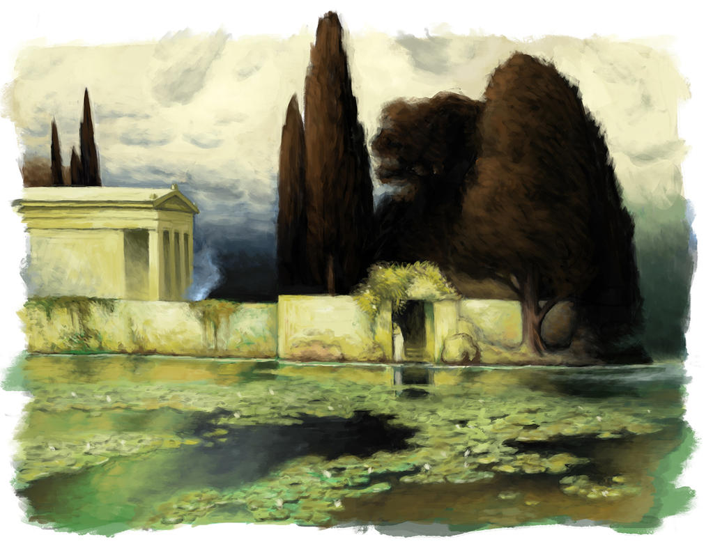 Ferdinand Keller Landscape Study by Snoardur