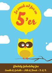Owl birthday card by Bendsen