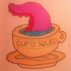 Cup 'o' squid by Bendsen
