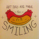 Hotdogs are made for smiling