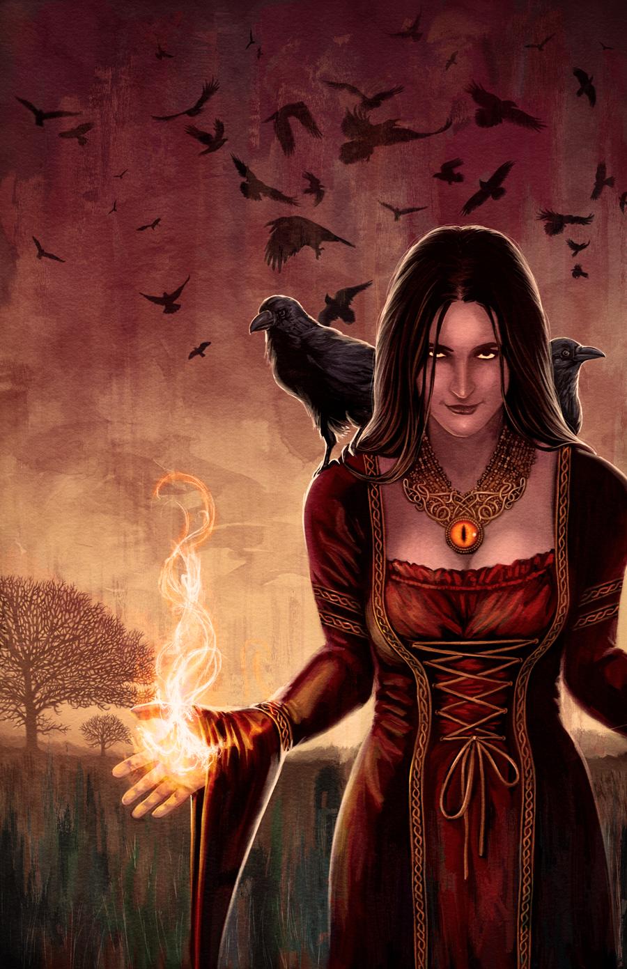 ведьма картинки кровавая