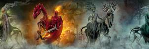 4 Horse Men of the Apocalypse by DougSirois
