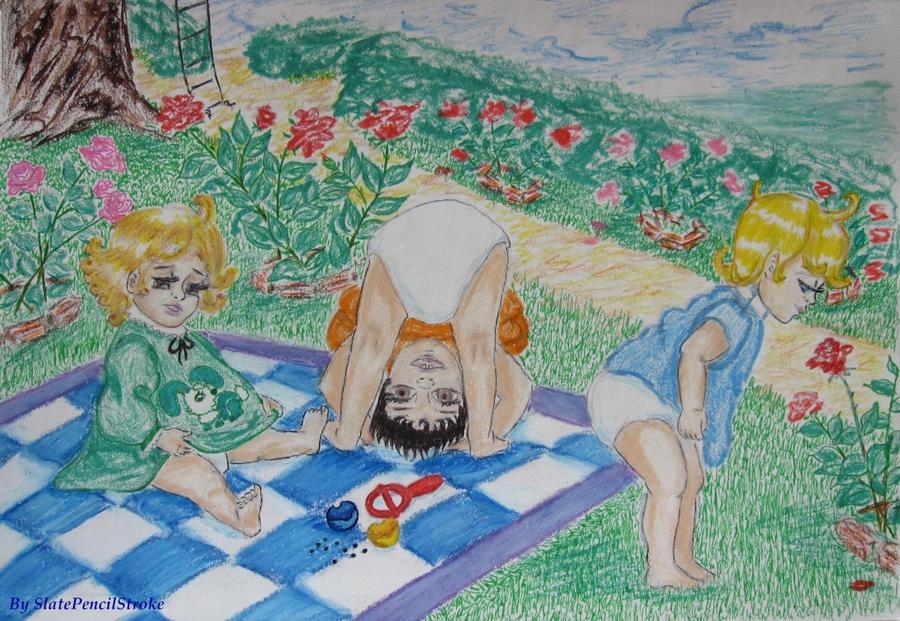 Рисунок про своё детство