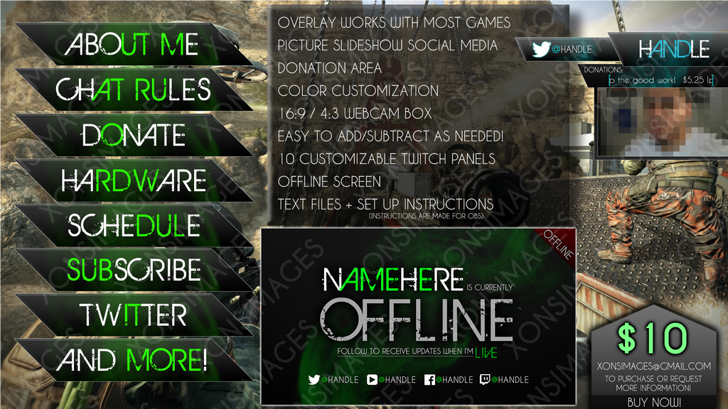 Twitch Package for Sale - $10 by XONSOLE