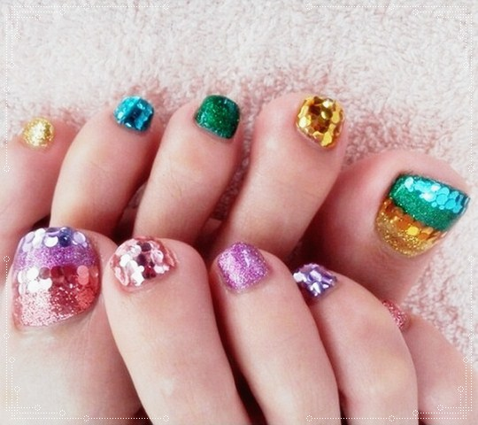 Toe Nail Designs Greens