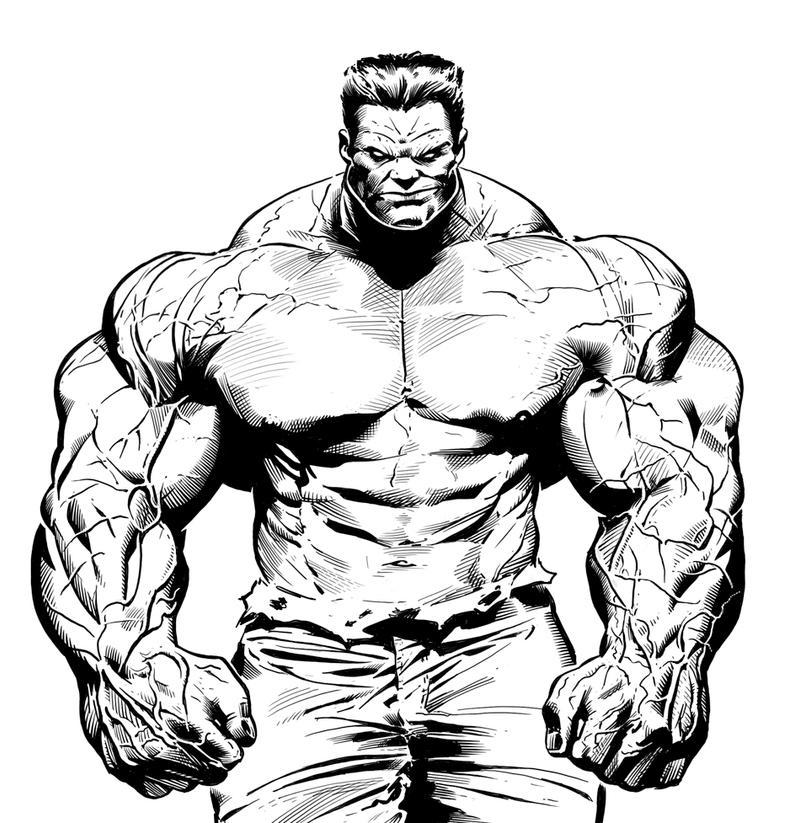 Red Hulk by LuisPuig