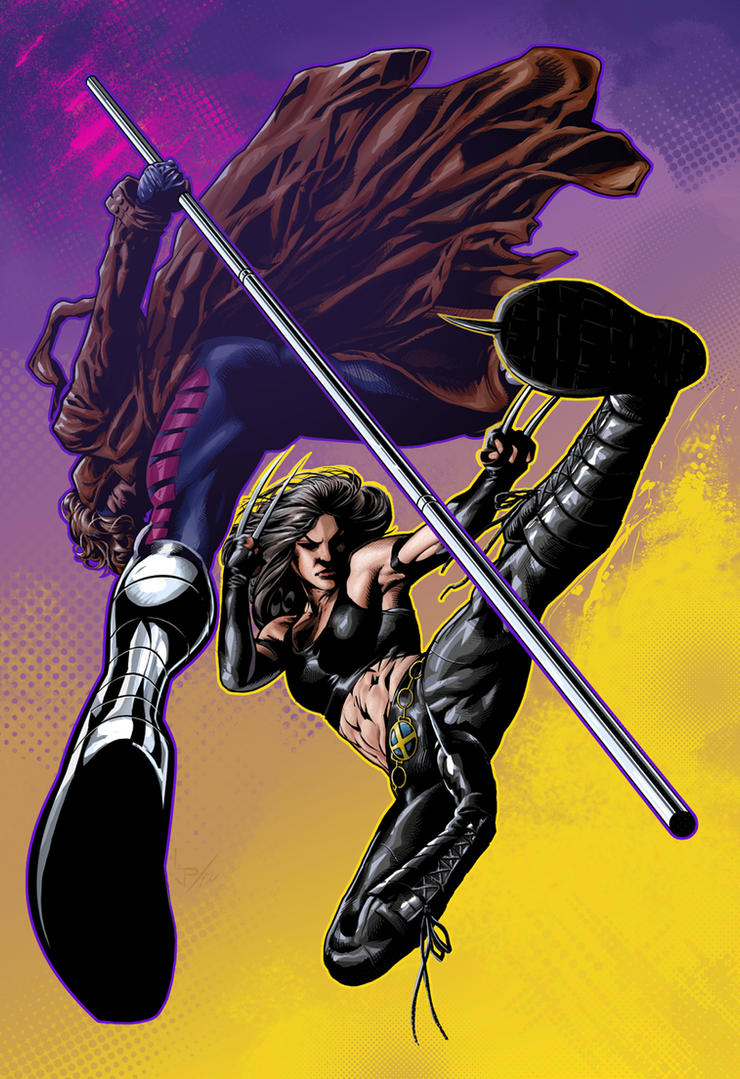 X23 and Gambit commission by LuisPuig on DeviantArt X 23 Gambit