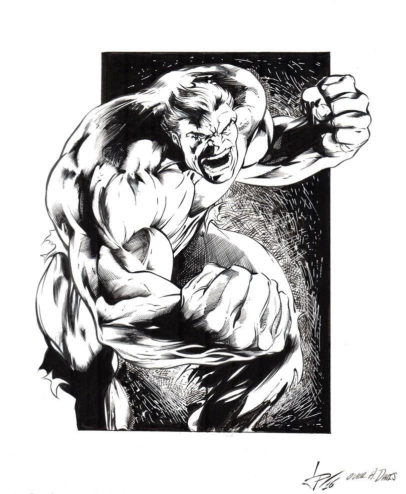 Hulk by Alan Davis inks20161231 by LuisPuig