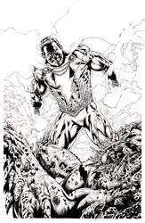 Shazam devastates Devastator Batman option 2 by LuisPuig